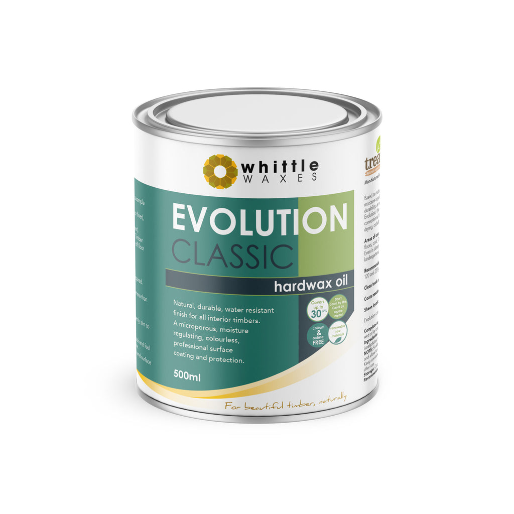 Whittle Waxes Evolution Hardwax Oil (Classic) - quality, durable, natural timber protection - 500ml