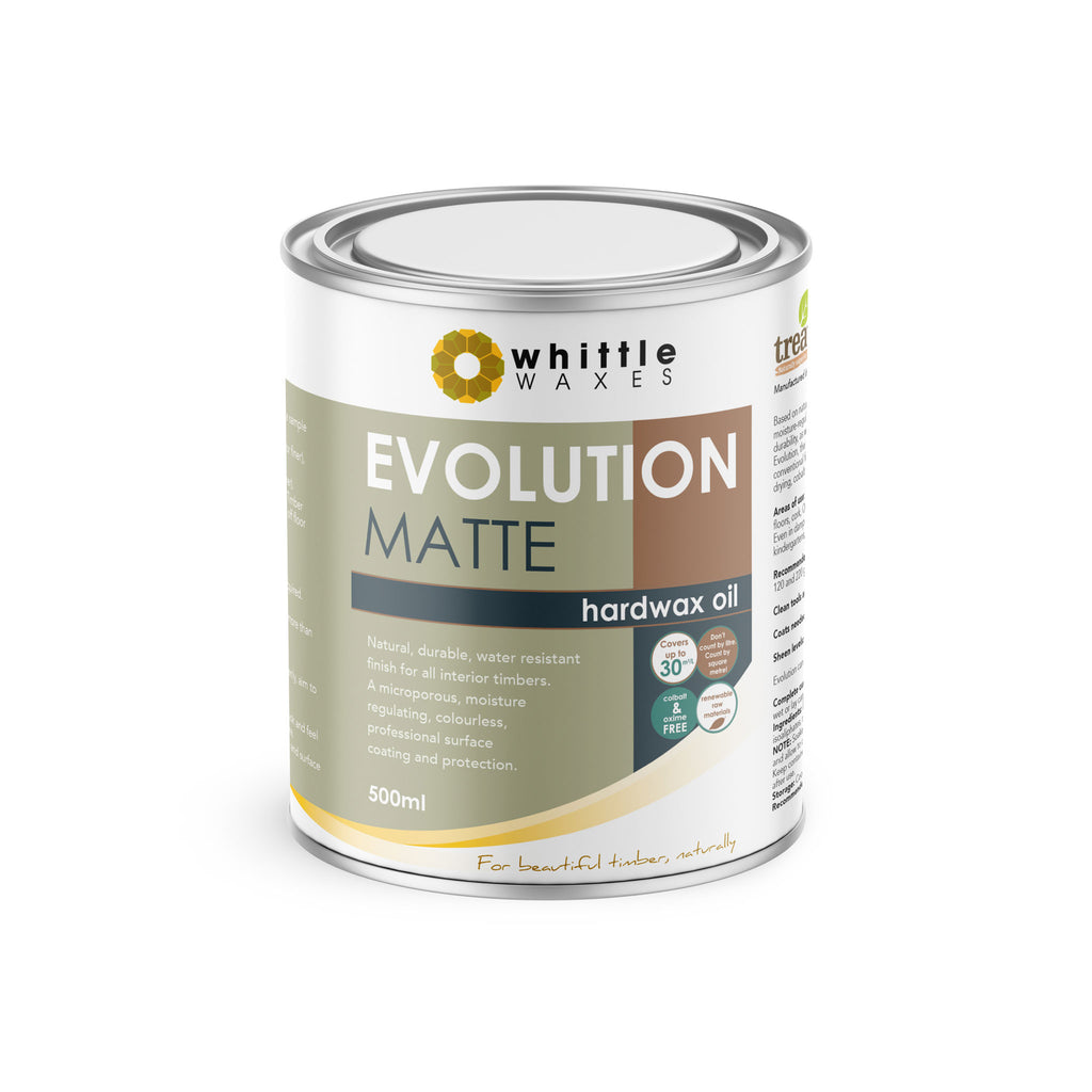 Whittle Waxes Evolution Hardwax Oil (Matte) - quality, durable, natural timber protection - 500ml