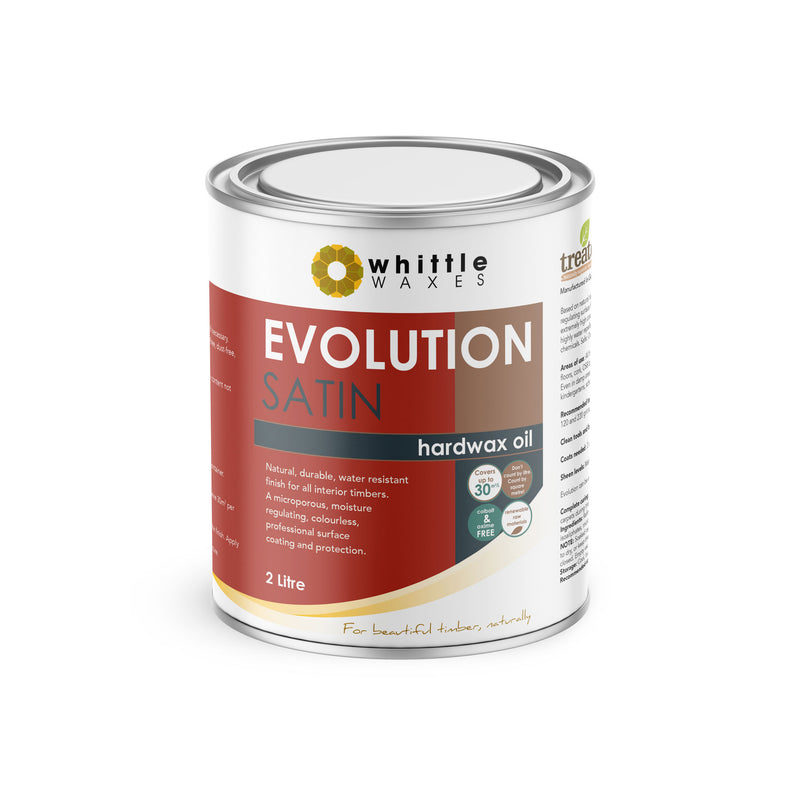 Whittle Waxes Evolution Hardwax Oil (Satin) - quality, durable, natural timber protection - 2 Litre