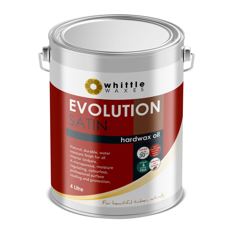 Whittle Waxes Evolution Hardwax Oil (Satin) - quality, durable, natural timber protection - 4 Litre