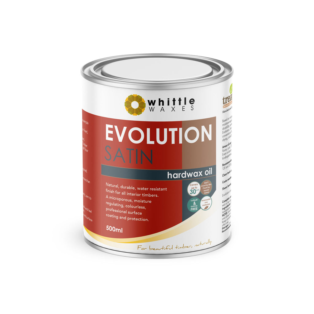 Whittle Waxes Evolution Hardwax Oil (Satin) - quality, durable, natural timber protection - 500ml