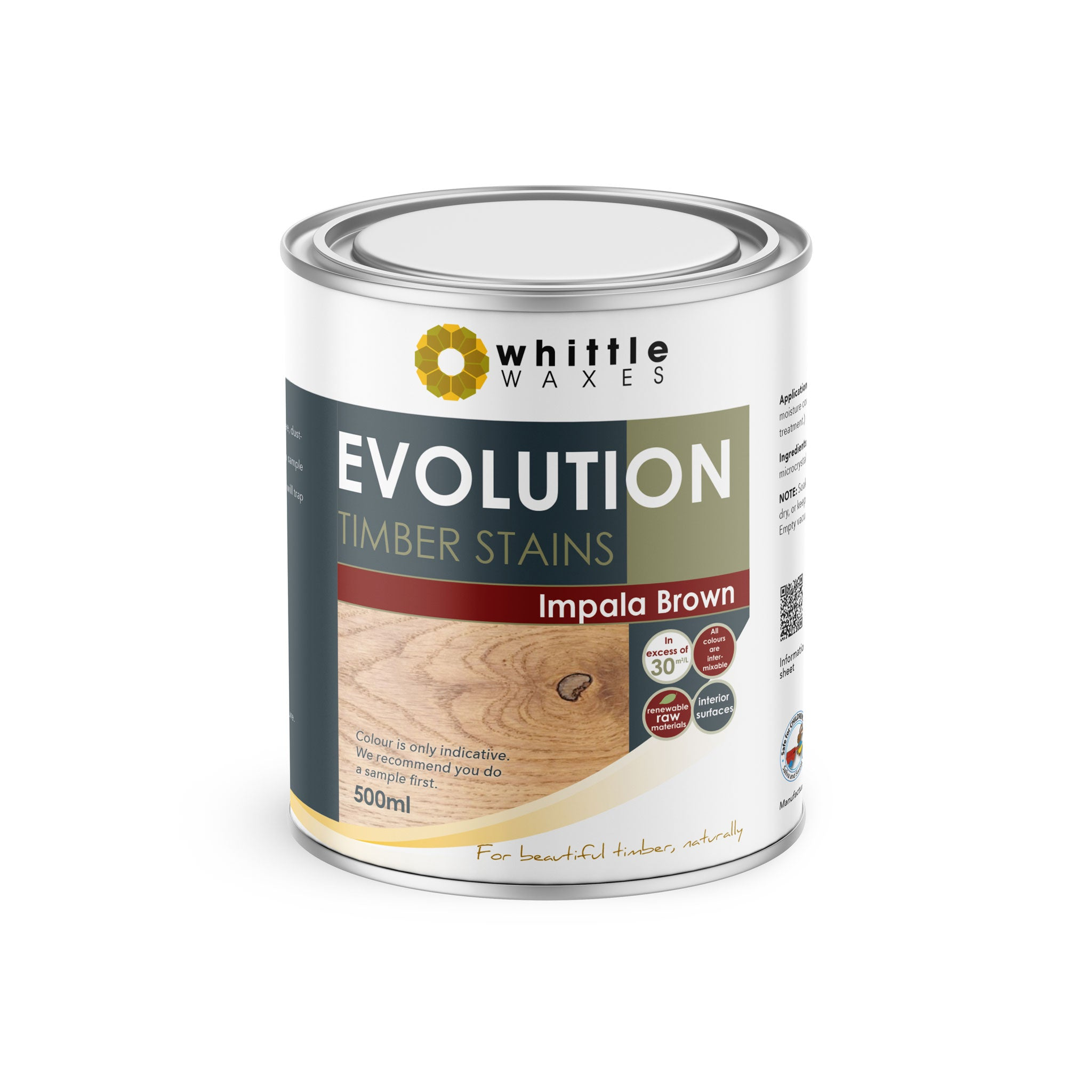 Whittle Waxes Evolution Colours (Impala Brown) - quality timber stain - 500ml