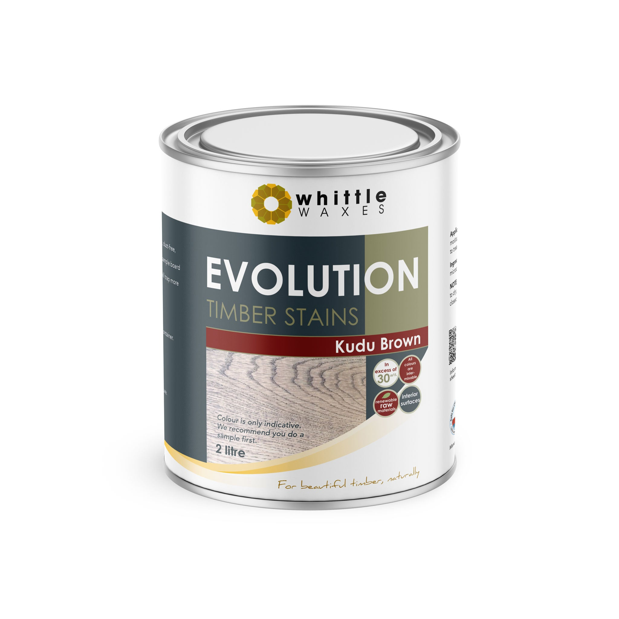 Whittle Waxes Evolution Colours (Kudu Brown) - quality timber stain - 2 Litre