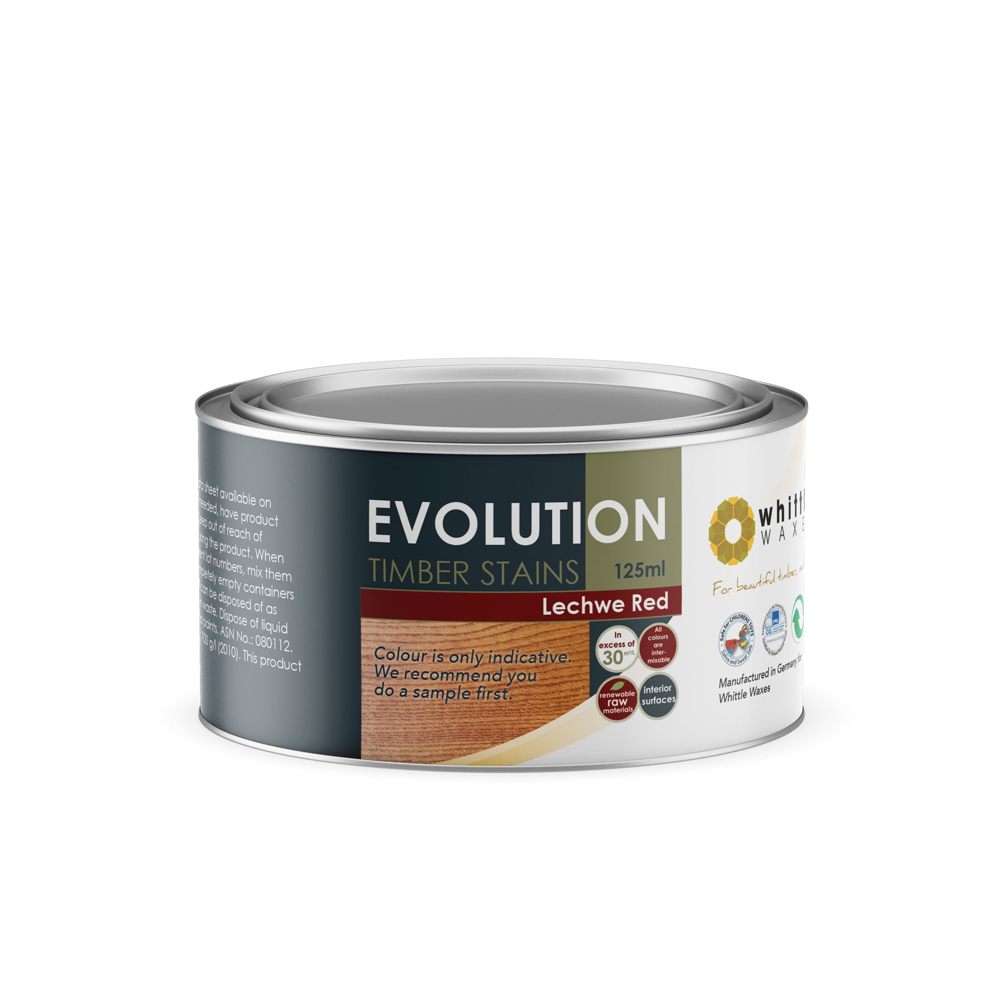 Whittle Waxes Evolution Colours (Lechwe Red) - quality timber stain - 125ml