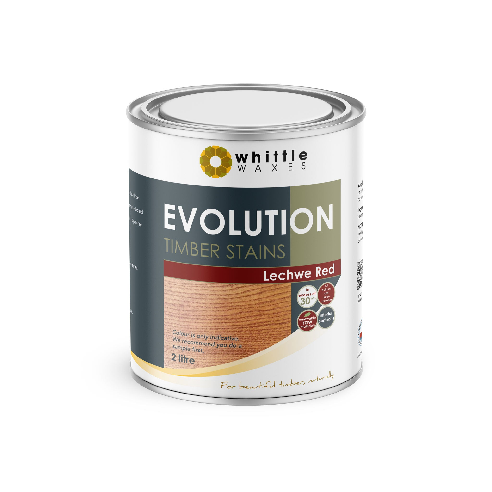 Whittle Waxes Evolution Colours (Lechwe Red) - quality timber stain - 2 Litre