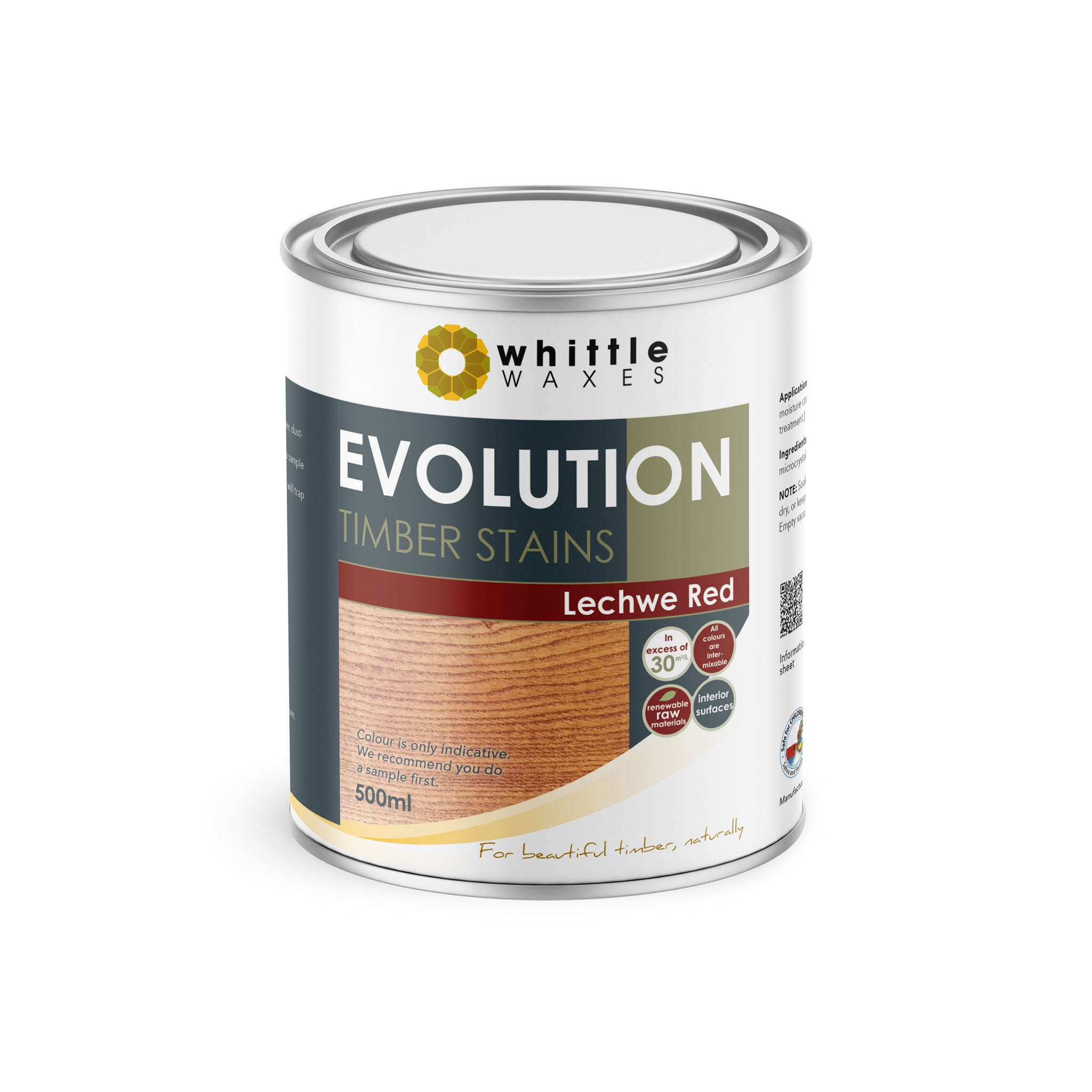 Whittle Waxes Evolution Colours (Lechwe Red) - quality timber stain - 500ml