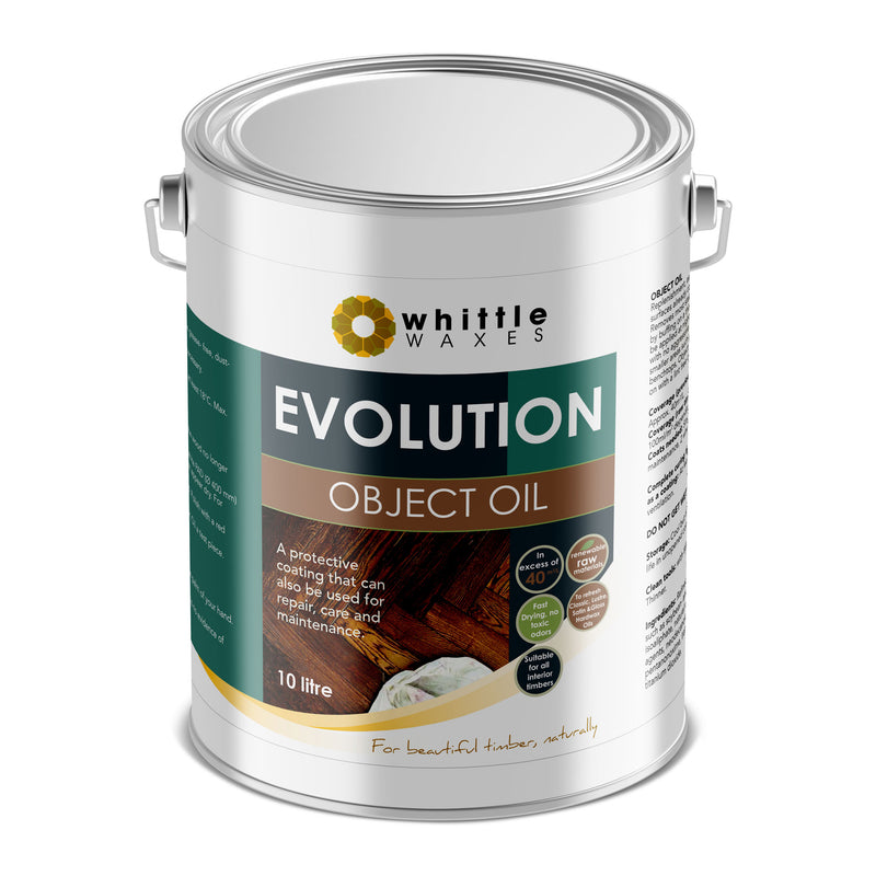 Whittle Waxes Evolution Object Oil - ideal for repair and replenishment - 10 Litre