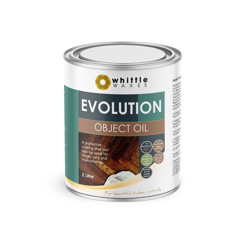 Whittle Waxes Evolution Object Oil - ideal for repair and replenishment - 2 Litre