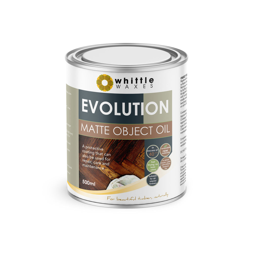 Whittle Waxes Evolution Matte Object Oil - ideal for repair and replenishment - 500ml