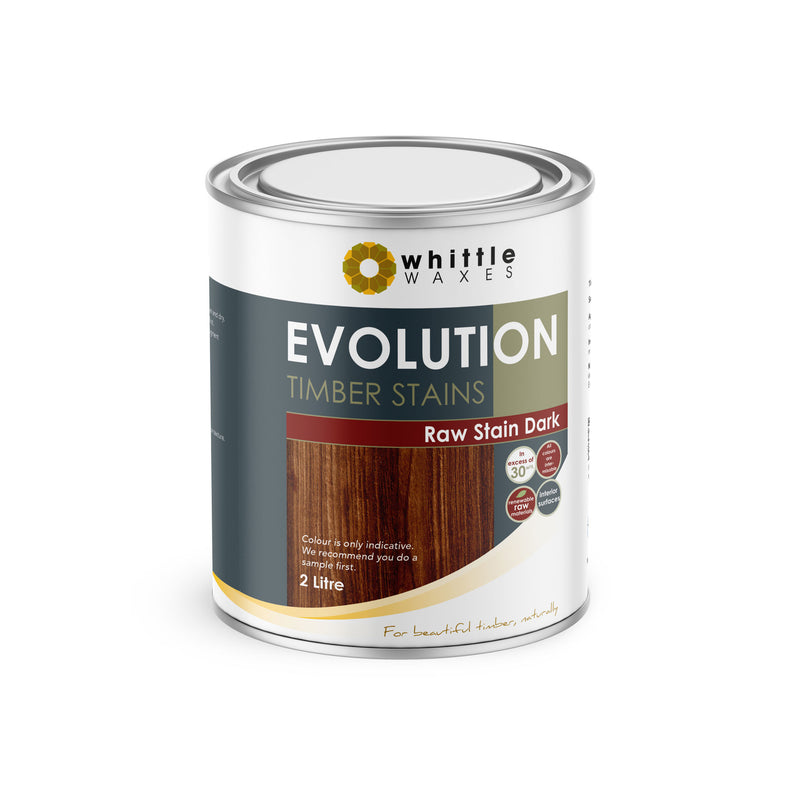 Whittle Waxes Evolution Raw Stain Dark - quality timber stain - 2 Litre