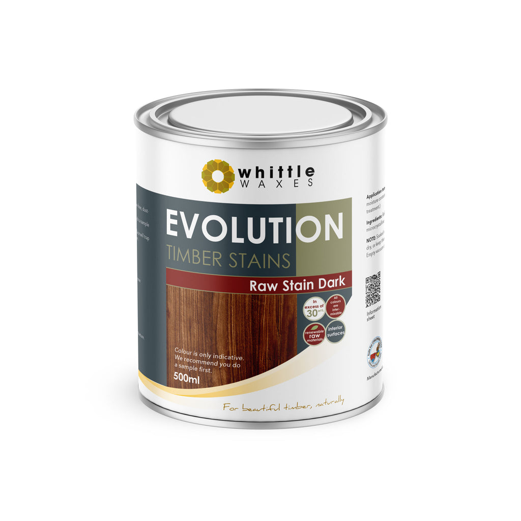 Whittle Waxes Evolution Raw Stain Dark - quality timber stain - 500ml