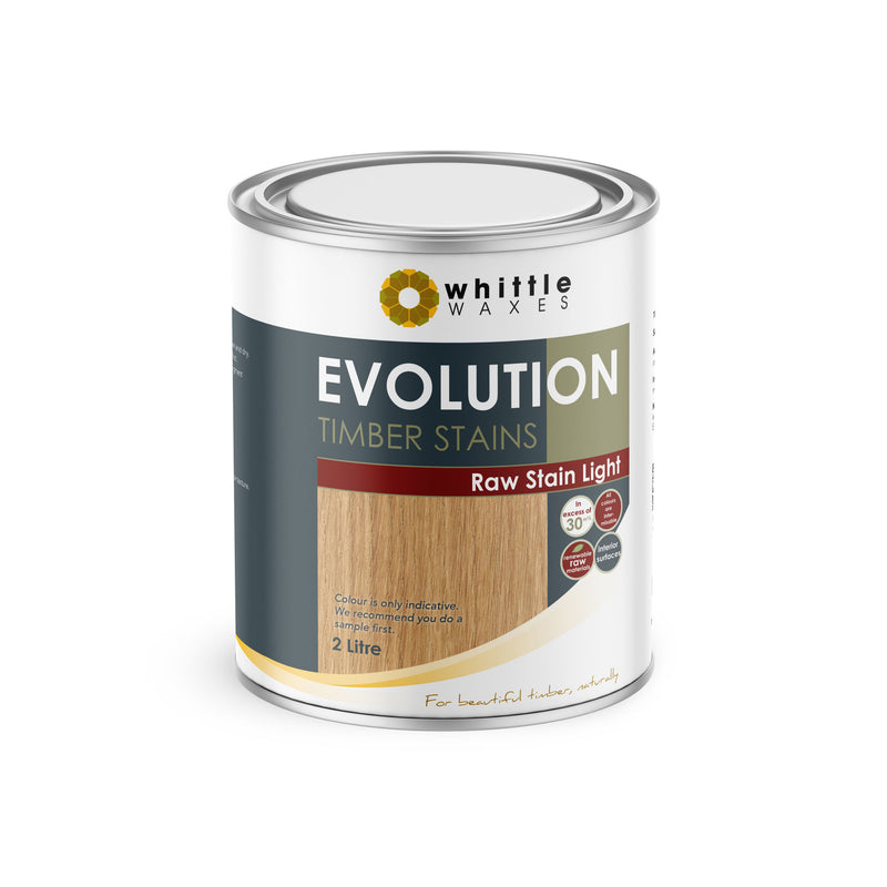 Whittle Waxes Evolution Raw Stain Light - quality timber stain - 2 Litre