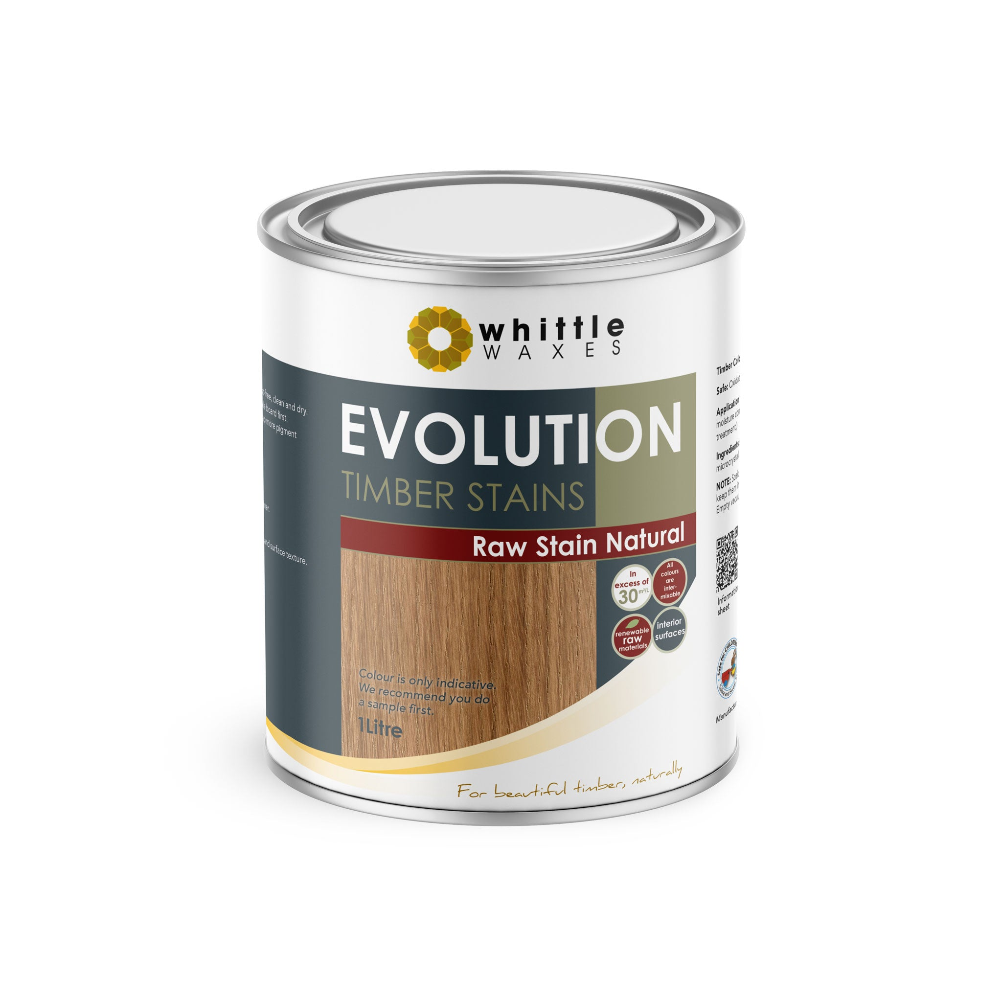 Whittle Waxes Evolution Raw Stain Natural - quality timber stain - 1 Litre