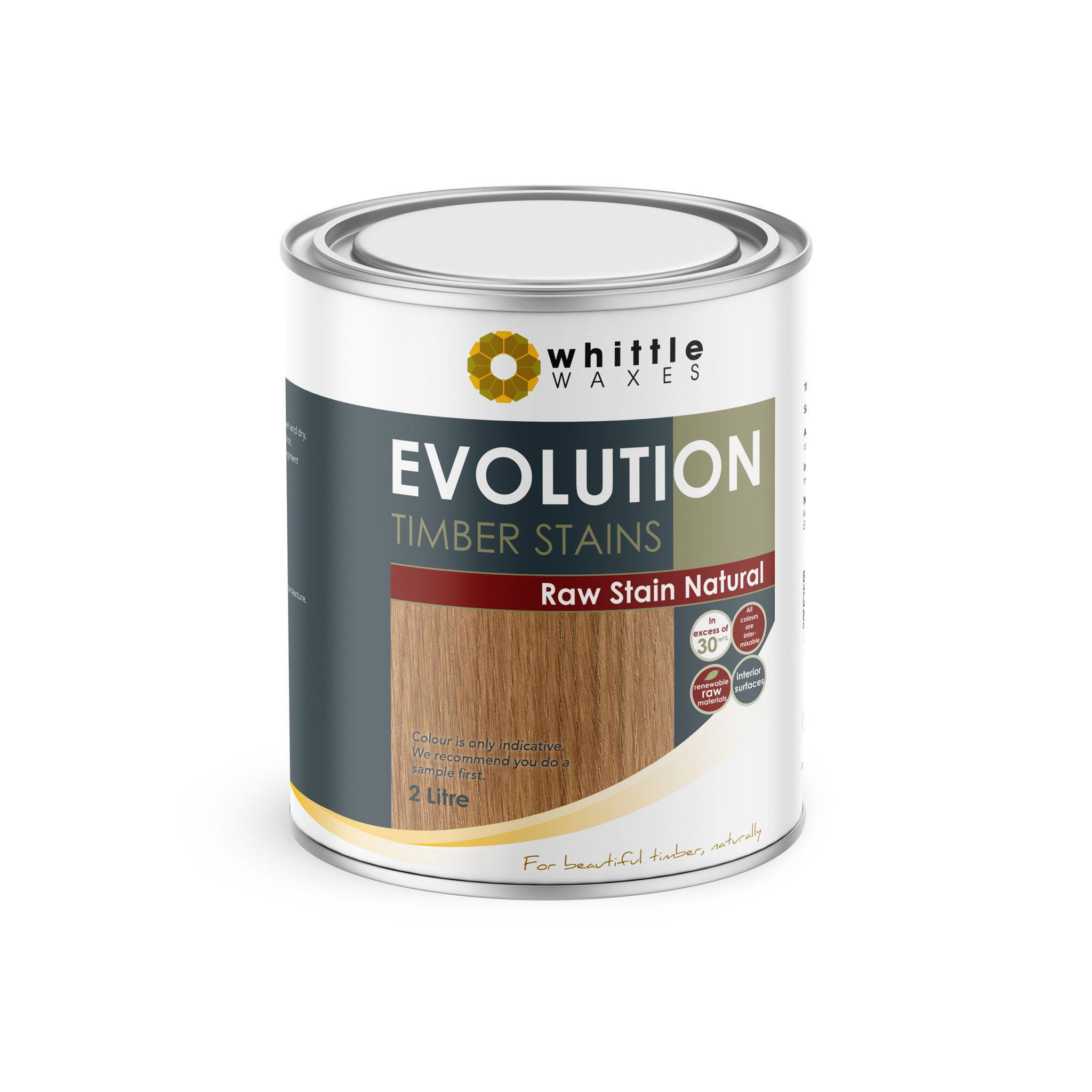 Whittle Waxes Evolution Raw Stain Natural - quality timber stain - 2 Litre