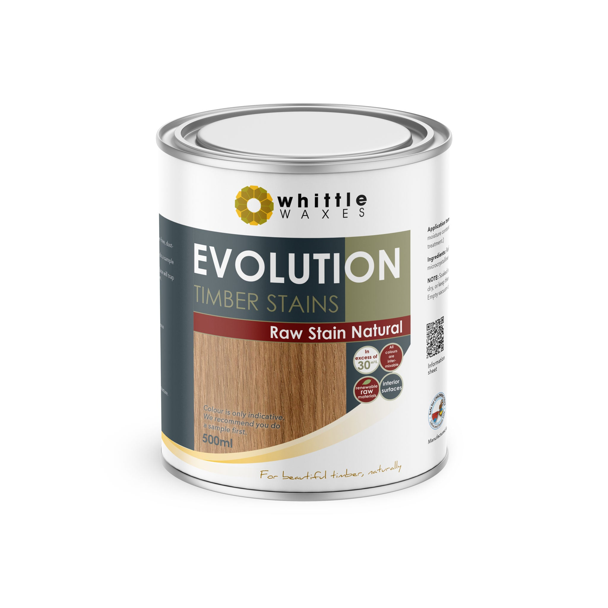Whittle Waxes Evolution Raw Stain Natural - quality timber stain - 500ml