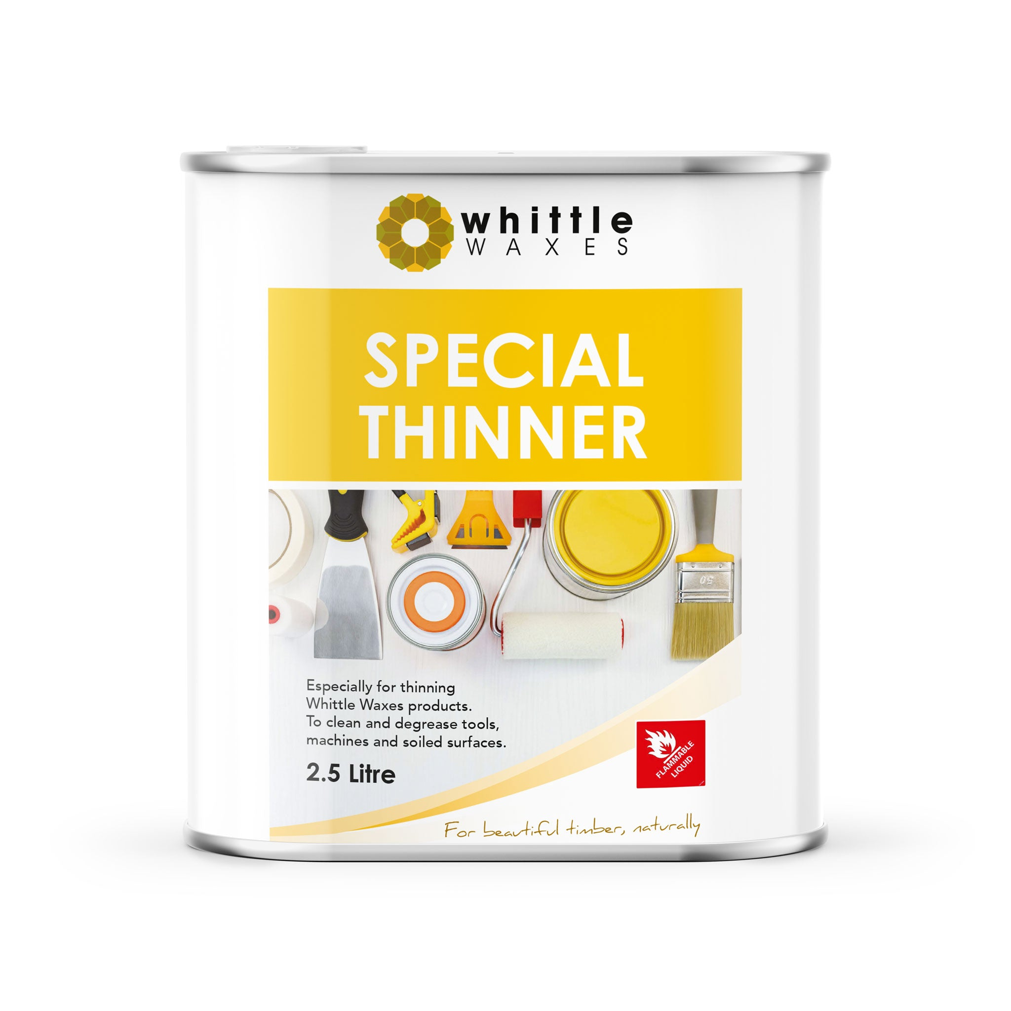 Whittle Waxes Special Thinners - for cleaning and degreasing - 2.5 litre