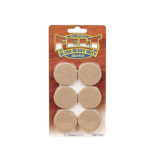 Ultra heavy duty felt pads (12pcs – 38mm diameter)