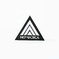 "Nomadica Trine Patch - 3"" White on Black"