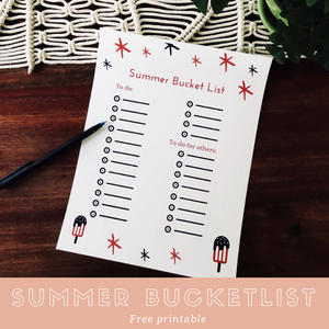 Summer Bucketlist (free printable)