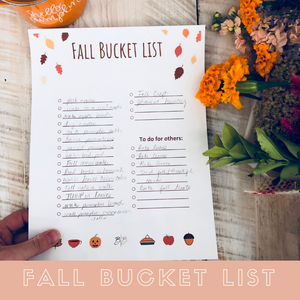 Fall Bucket list with purpose