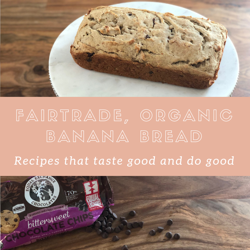 Fairtrade Chocolate Chip, Gluten free Banana bread - good for the soul and the world