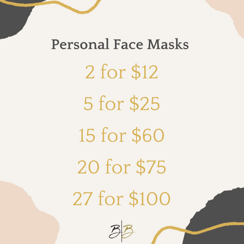Personal Face Masks