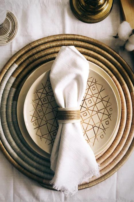 Dinner Time - Handwoven Napkin Rings