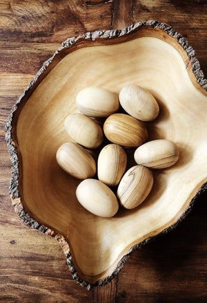 Handcarved Olive Wood Eggs