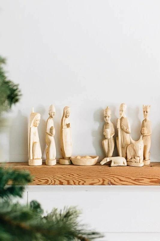Hand Carved Nativity