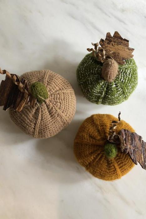 Knitted Pumpkins