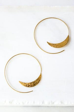 solstice hoops earrings