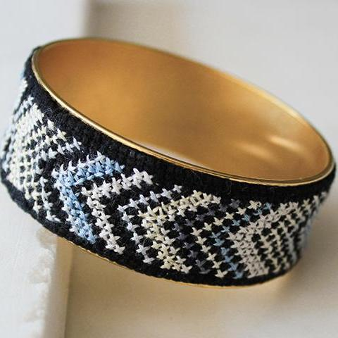 Gold-Plated Nussum Bangle