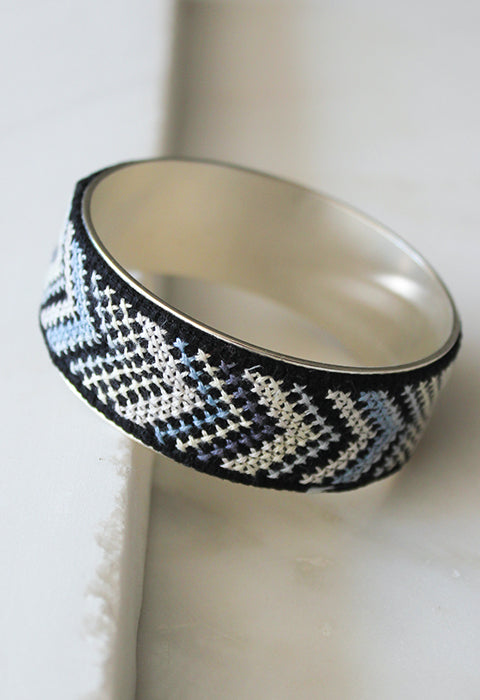 Silver-Plated Nussum Bangle