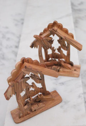 Olive Wood Tabletop Creche