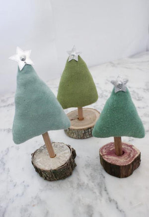 Upcycled Christmas Forest