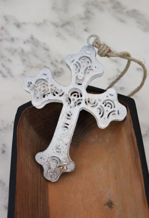 Vintage Cross Ornament