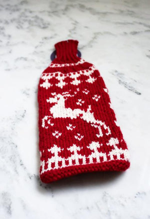 Winter Wine Koozie