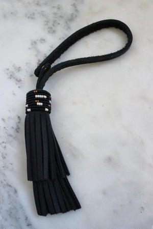 Leather Beaded Tassel FOB