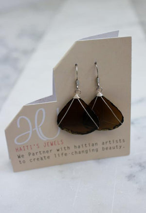 Single Drop Glass Earrings
