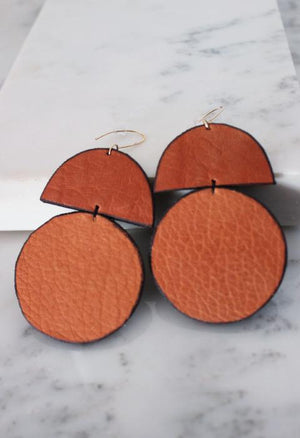 Duomo Leather Earrings