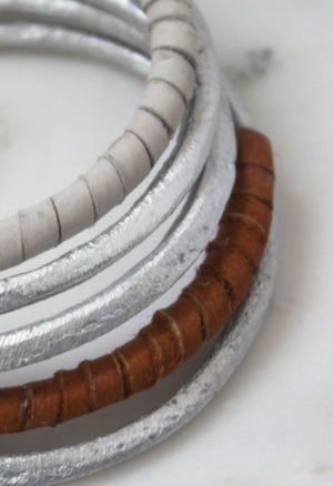 Leather Wrap Bangles