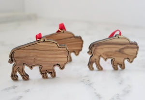 Olive Wood Bison Ornament