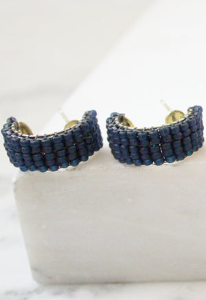 Beaded Mini Hoop Earrings