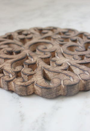 Mango Wood Vines Trivet