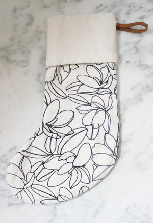 Floral Christmas Stocking