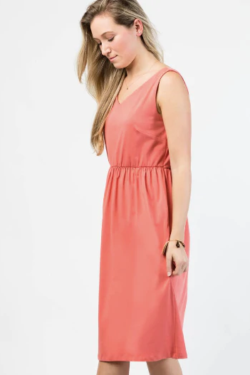 Harper Dress - Coral