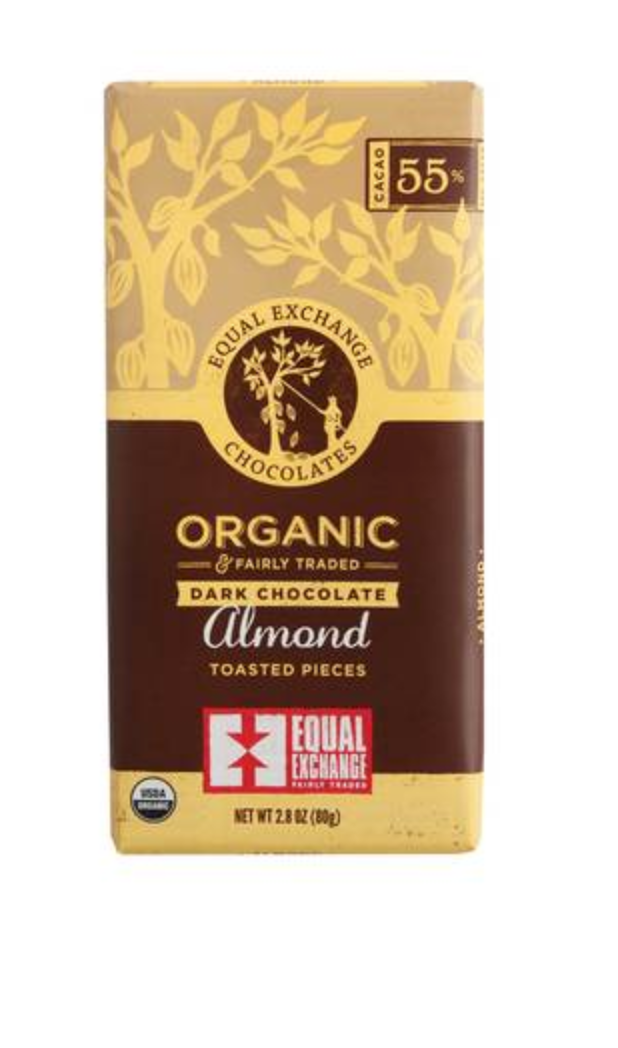 Organic Dark Chocolate Almond and Sea Salt Bar