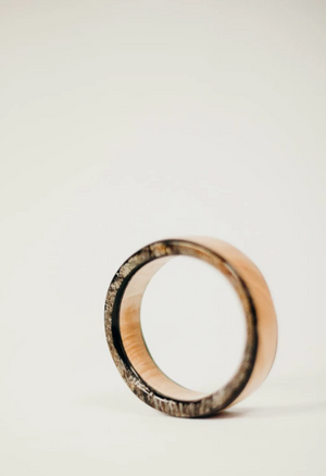 Bwa Kon Wood + Horn Bangle