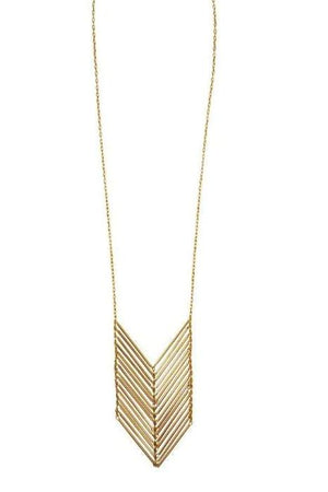 Chevron Necklace | Fairtrade brass