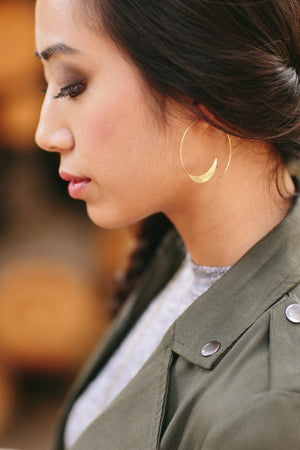 solstice hoop earrings